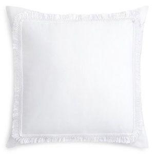Tassel Euro Pillow Sham Set in White